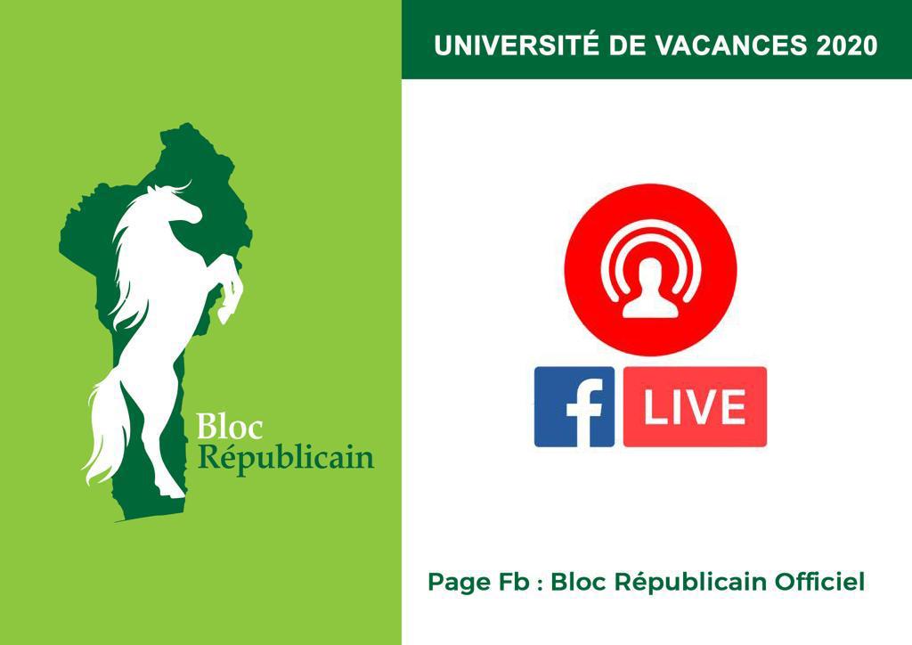 UNIVERSITE DE VACANCES 2020 du BLOC REPUBLICAIN